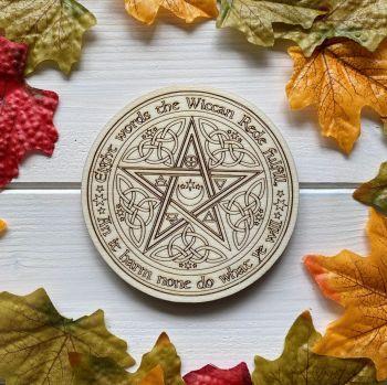 Wiccan Rede Altar Tile