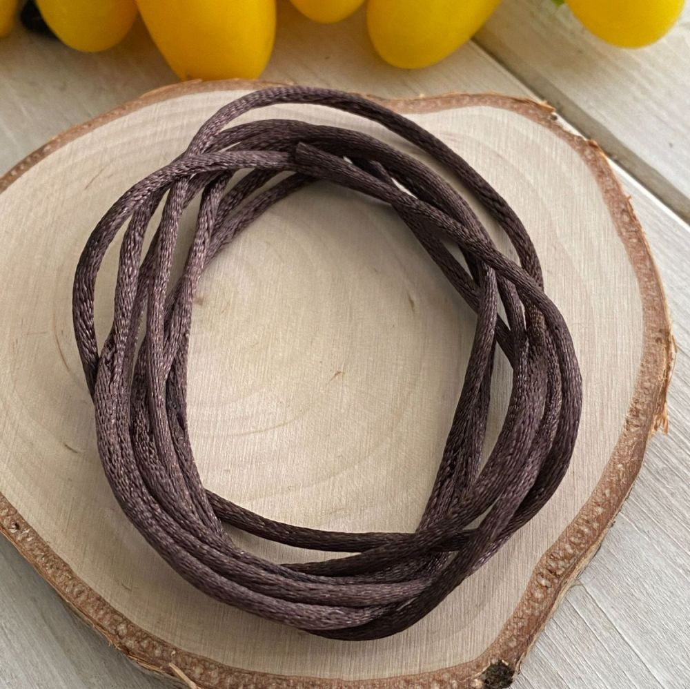 3m piece of Silky Brown Cord