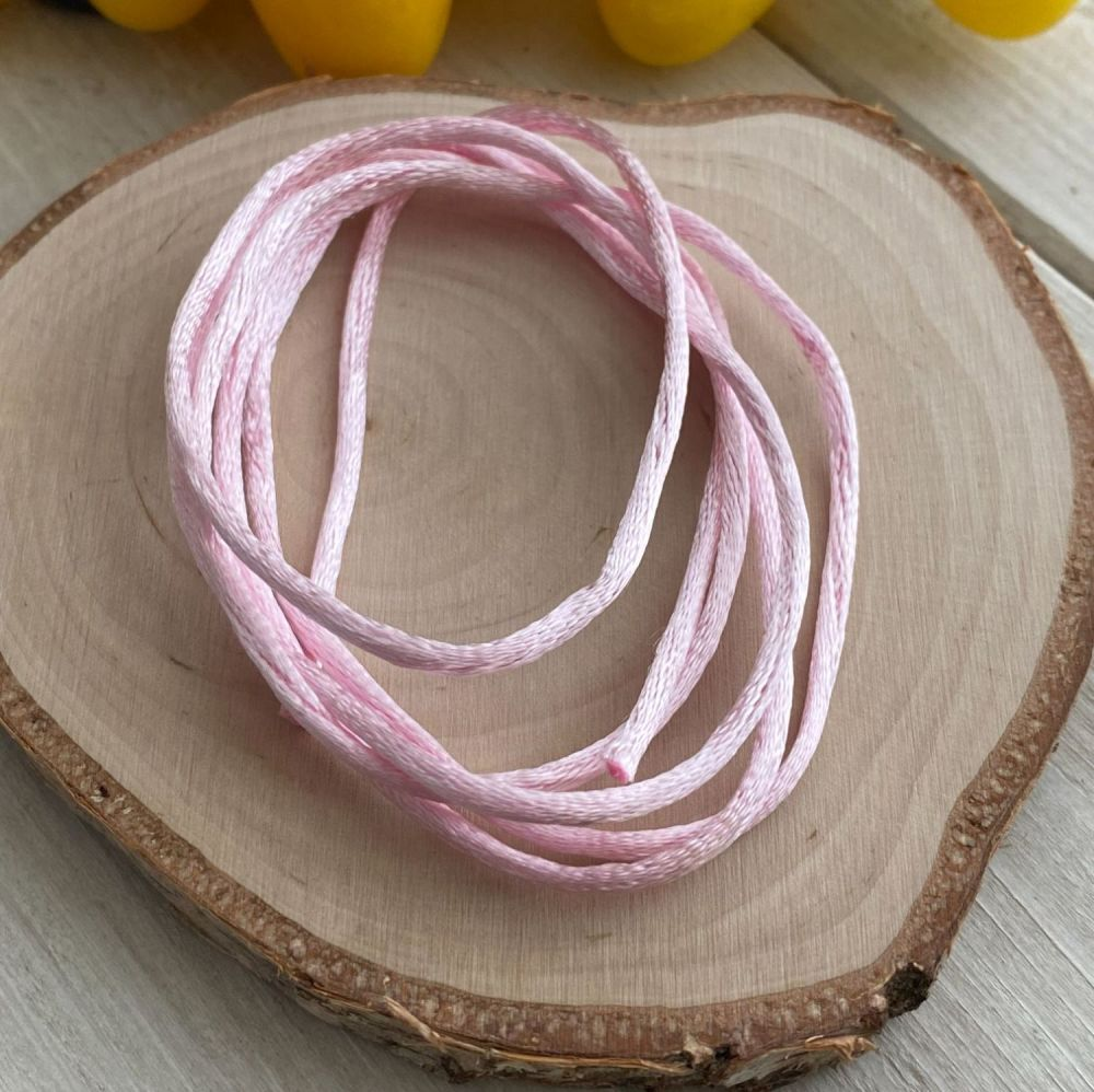 3m piece of Silky Pink Cord