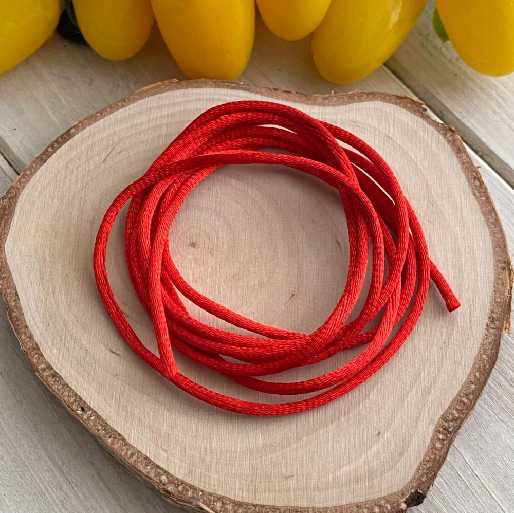 3m piece of Silky Red Cord