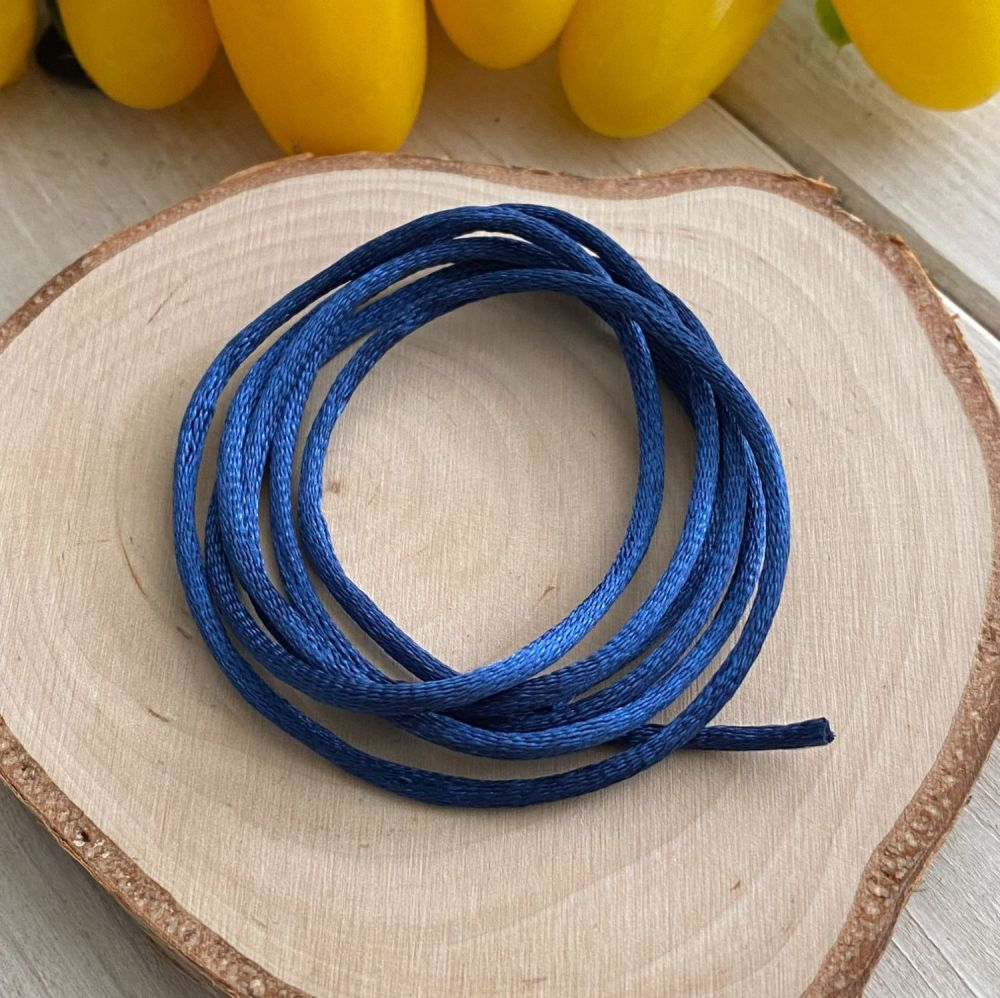 3m piece of Silky Royal Blue Cord