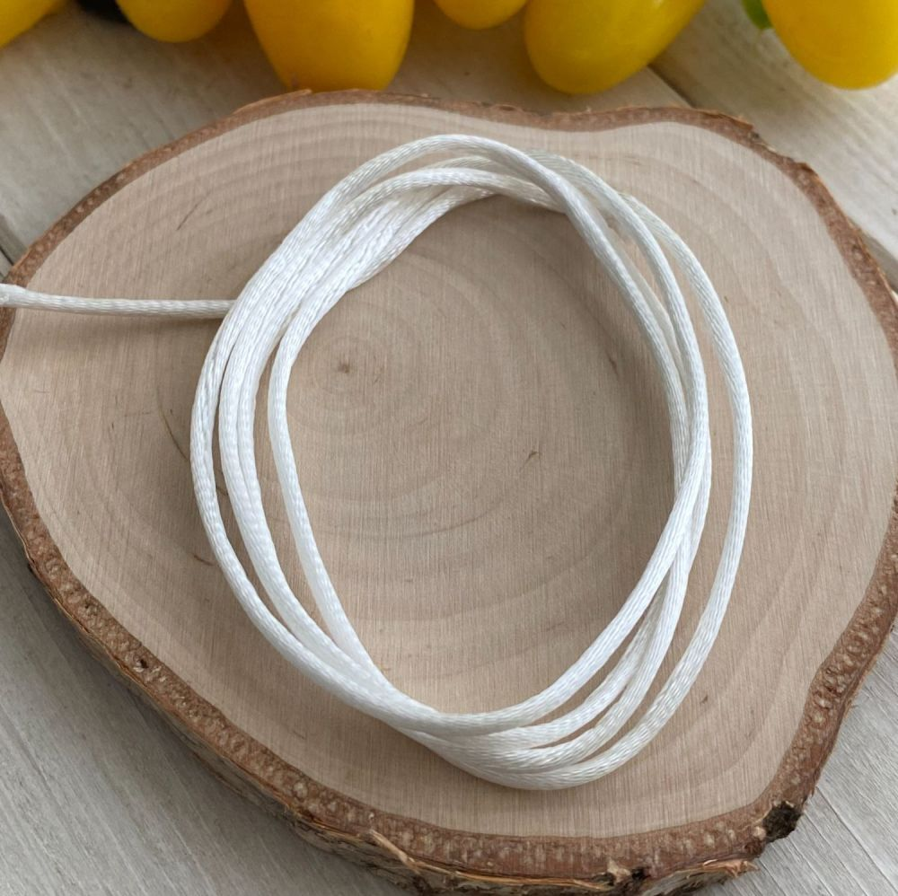 3m piece of Silky White Cord