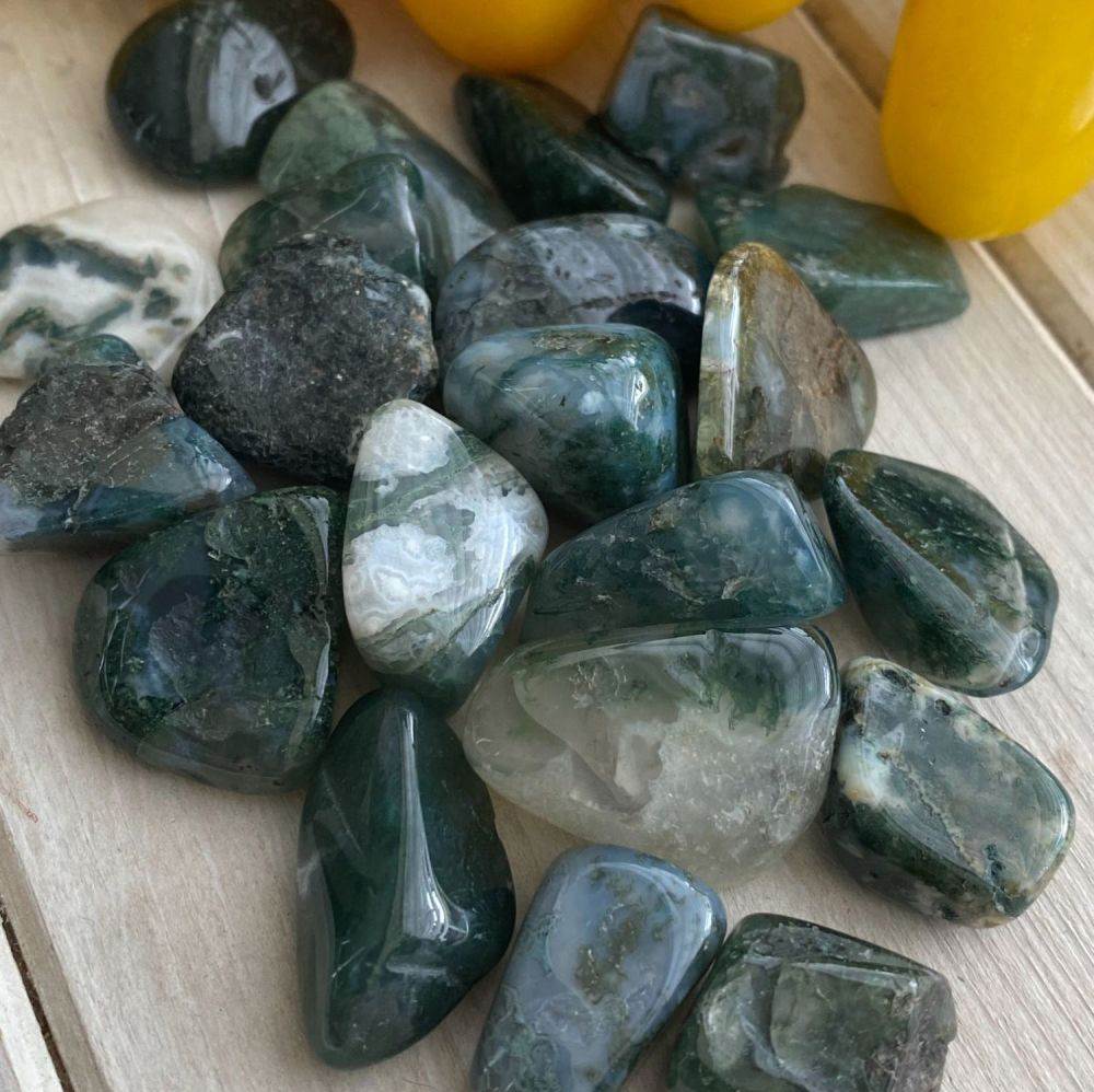 Agate - Moss ~ Small ~ Pack of 4