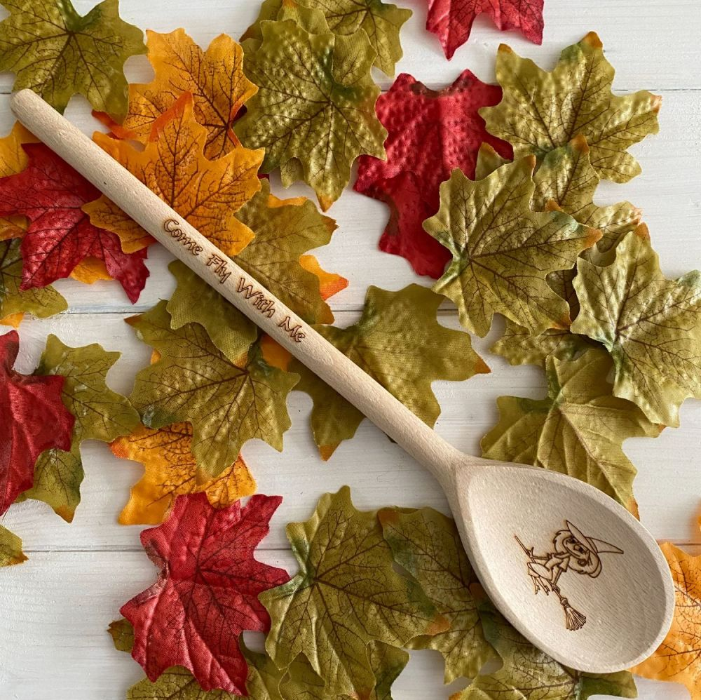 Cauldron Spoon ~ Witch on a Broomstick and