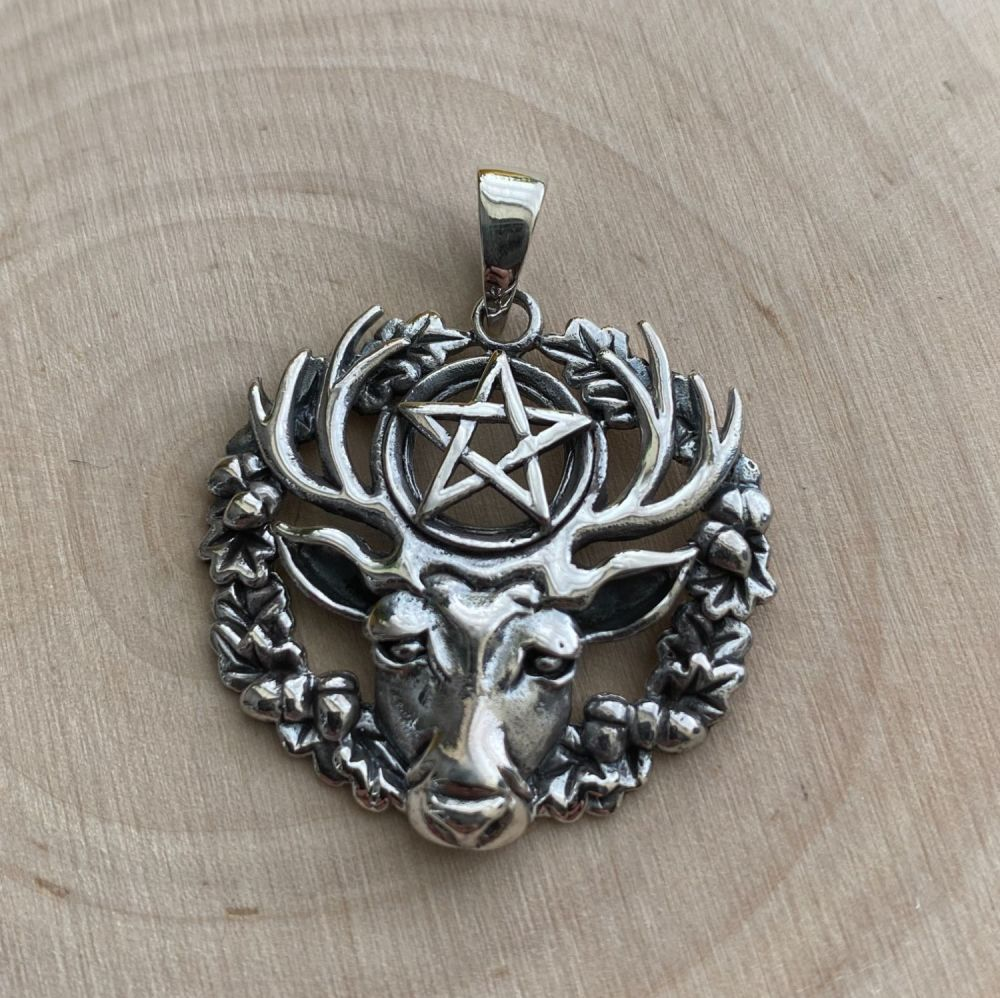 Lisa Parker Hart of the Wild Wood (Stag) 925 Silver Pendant ~ SALE