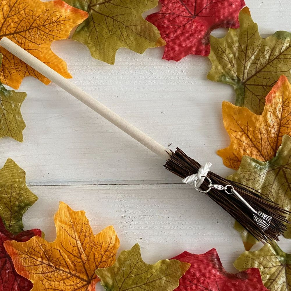 Hand Crafted Witches Broom with Broom Charm