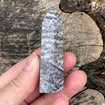 Lepidolite in Quartz Point ~#2