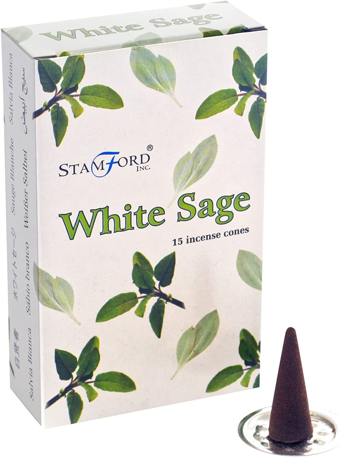 White Sage Incense Cones ~ Pack of 15