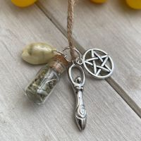 Hand Crafted Witches Black Salt & Herb Protection and Prosperity Charm