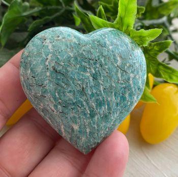 Amazonite (Graphical) Heart ~ #1