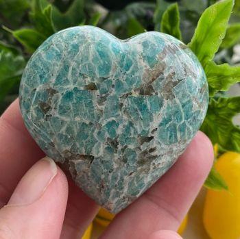 Amazonite (Graphical) Heart ~ #2