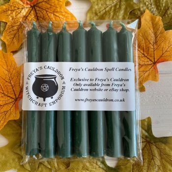 7 Green 10 cm Spell Candles