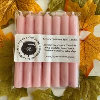 7 Pink 10 cm Spell Candles