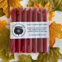 7 Red 10 cm Spell Candles
