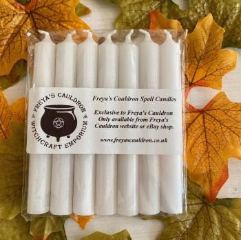 7 White 10 cm Spell Candles