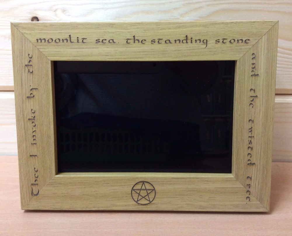 Stunning Scrying Mirror with verse