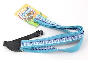Ukulele sling Strap, blue Gaucho print design, now with FREE POSTAGE!