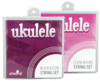 Ukulele Strings - BLACK NYLON  set of 4, now with FREE POSTAGE!
