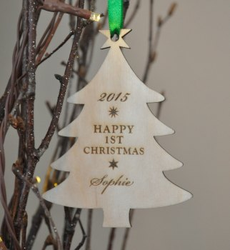 Personalised Baby's First Tree Bauble