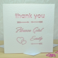 Laser Cut Flower Girl Thank You Card