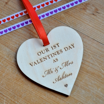 Valentine's Day Wooden Heart