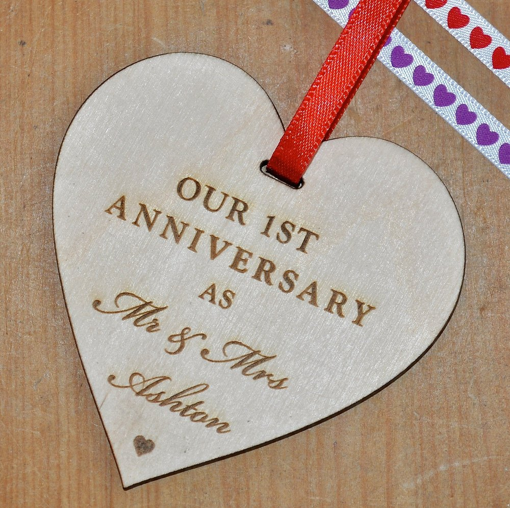 Anniversary Wooden Heart