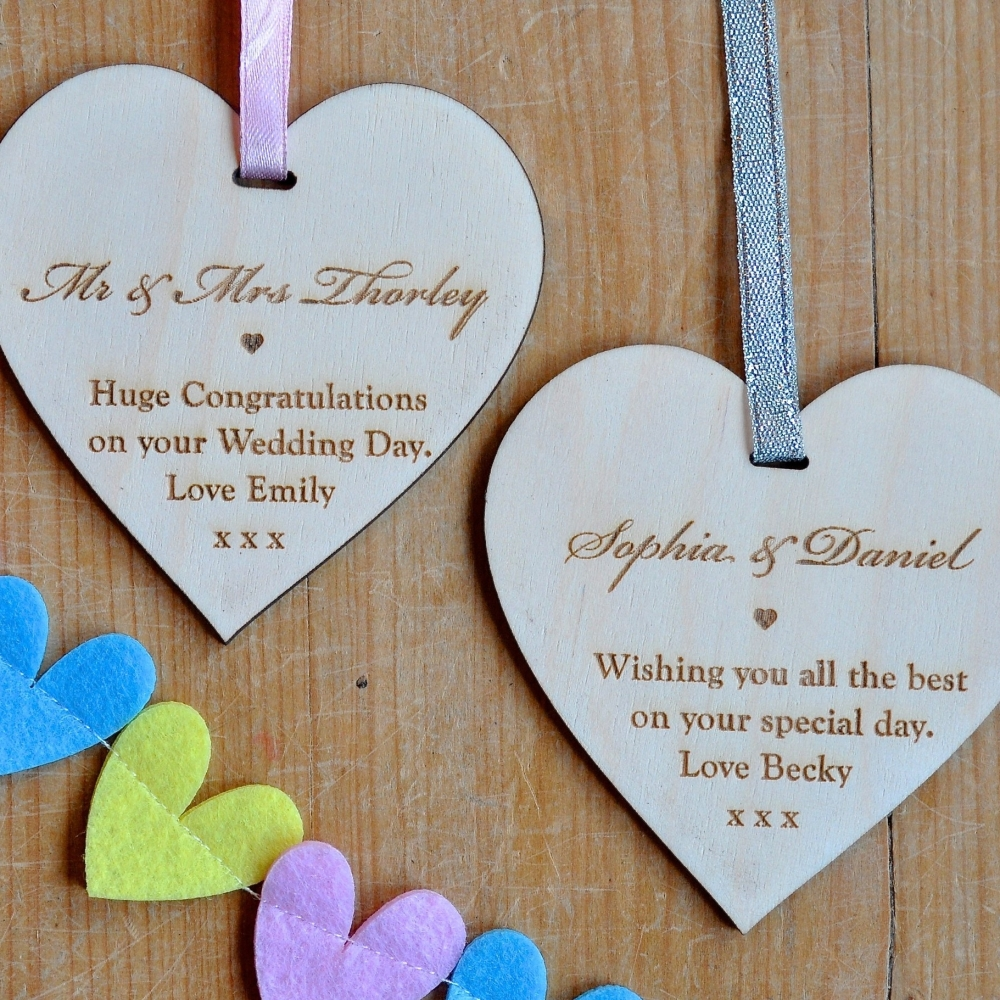 Personalised Message Wooden Heart
