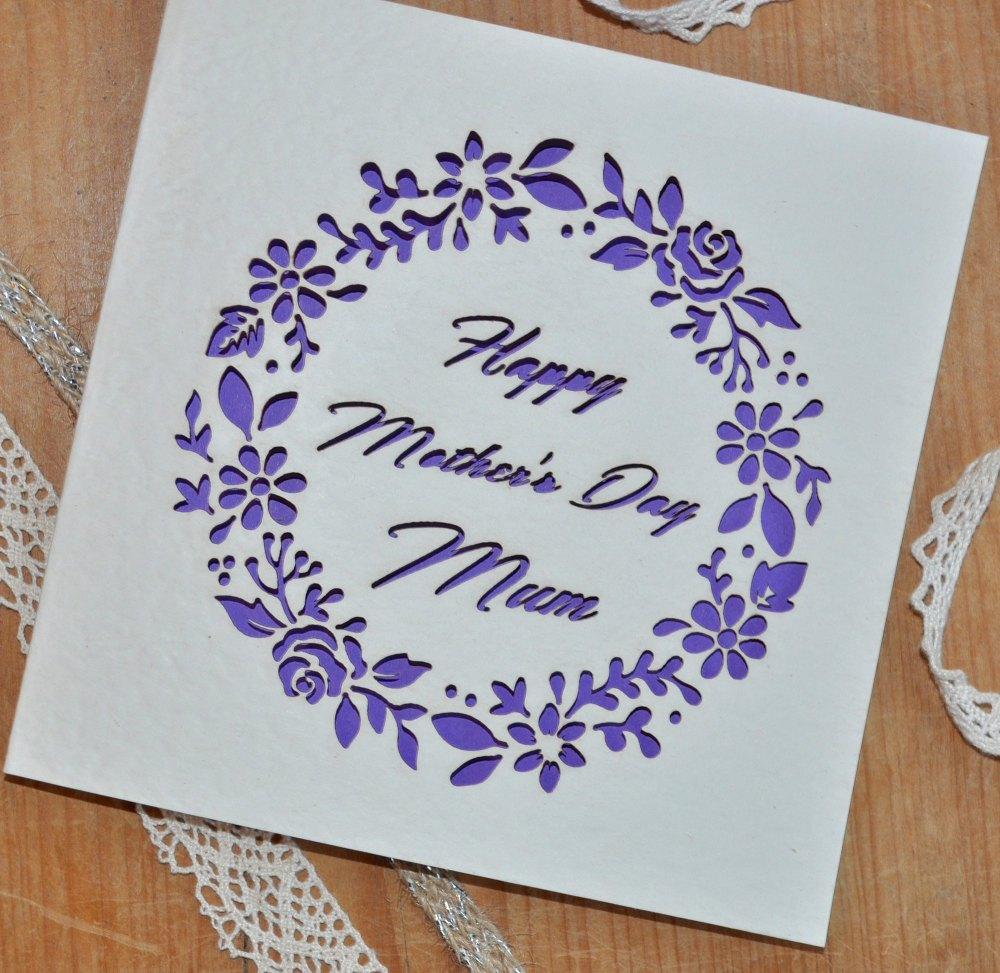 Laser Cut Mother's Day Card