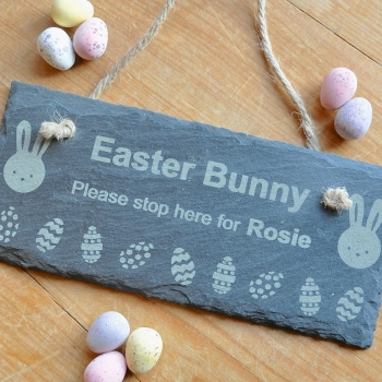 Personalised Easter Bunny Slate Sign