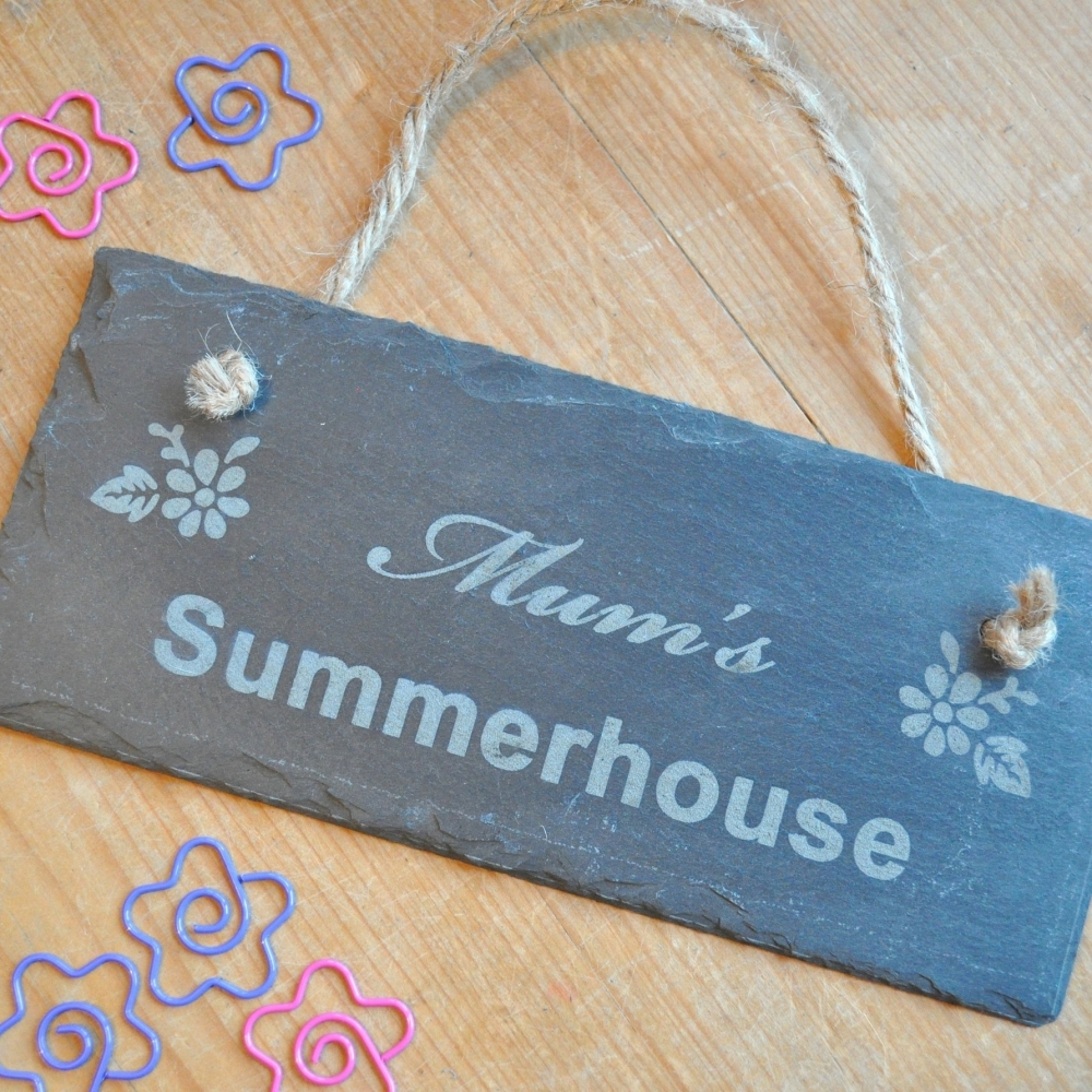 Personalised Summerhouse Slate Sign