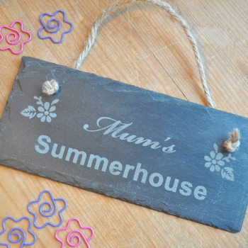 Summerhouse Shed Slate Sign Gift