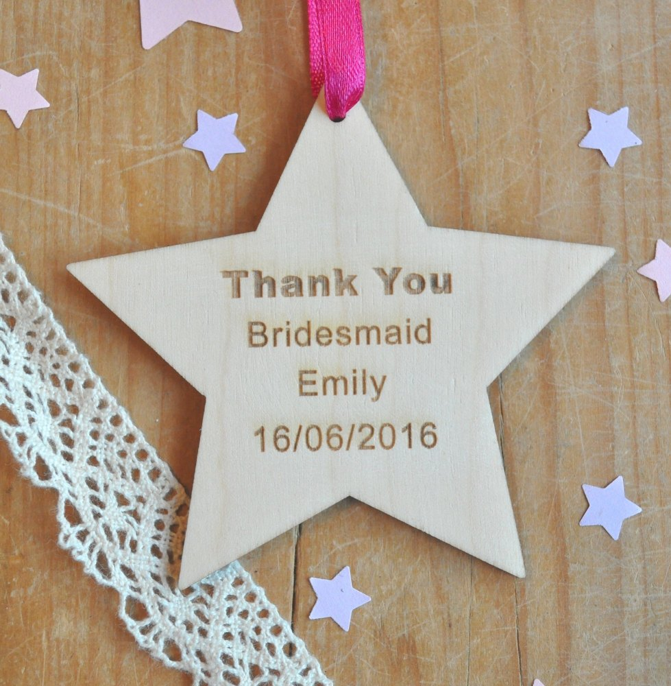 Thank You Wooden Hanging Star