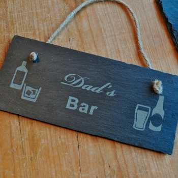 Personalised Bar Slate Sign