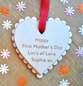 Personalised First Mother's Day Heart