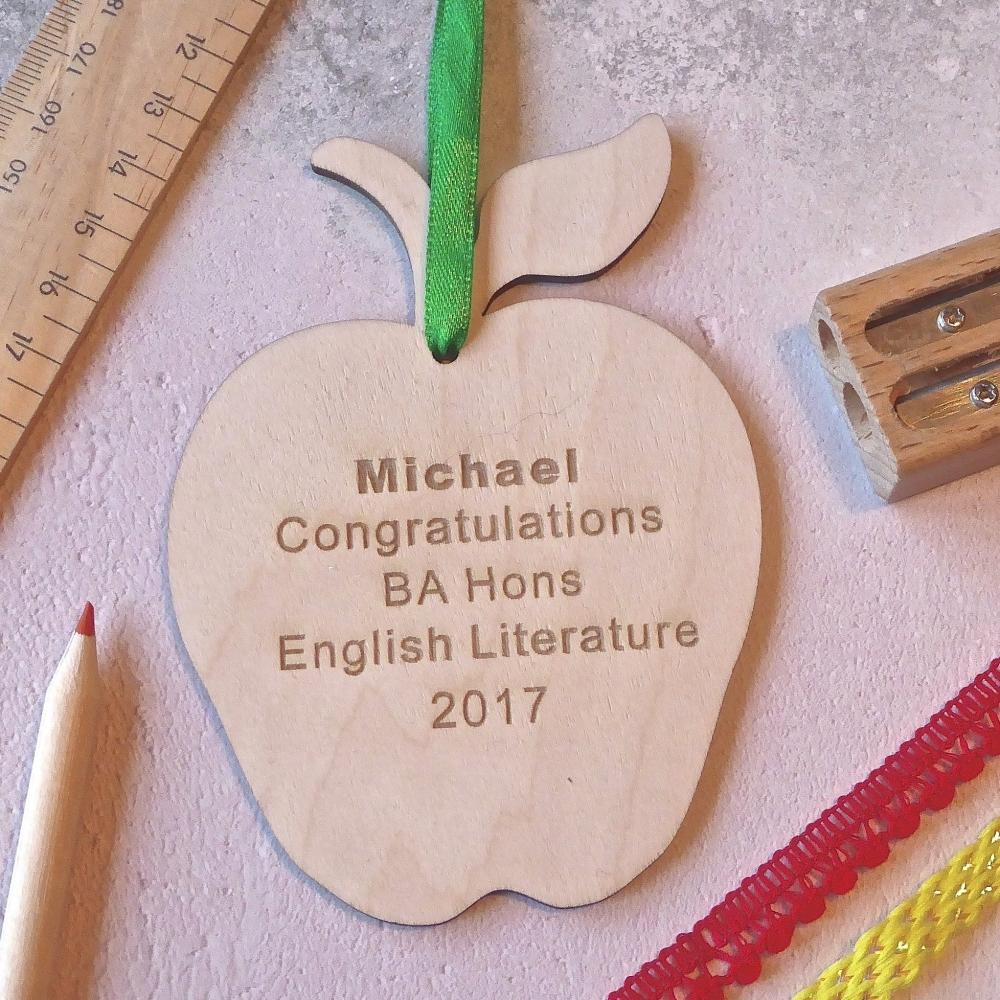 Personalised Graduation Apple