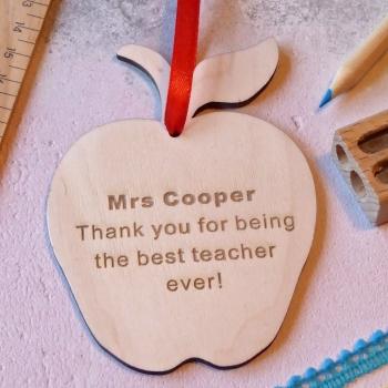 Thank You Teacher Wooden Apple
