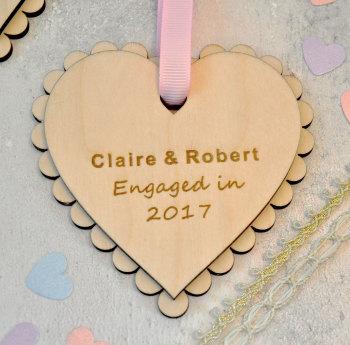 Engagement Wooden Heart