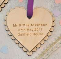 Personalised Wedding Heart