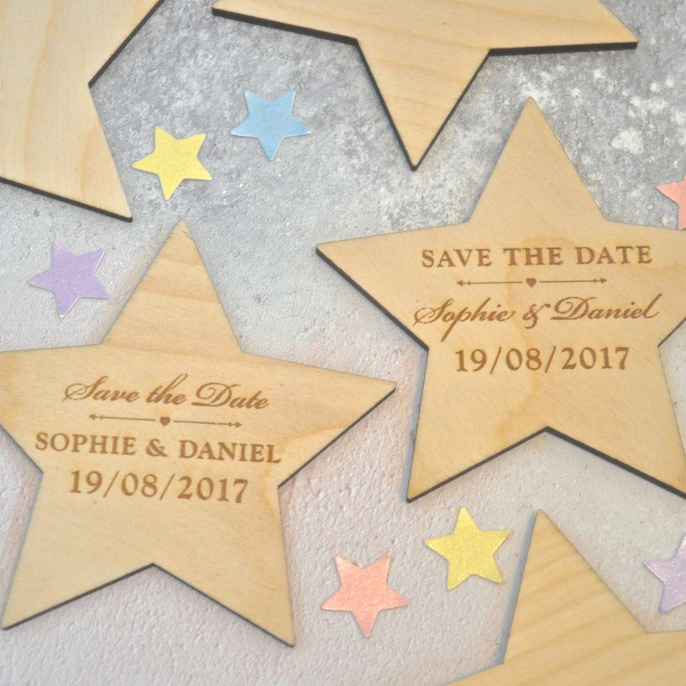 Save The Date Star Magnet