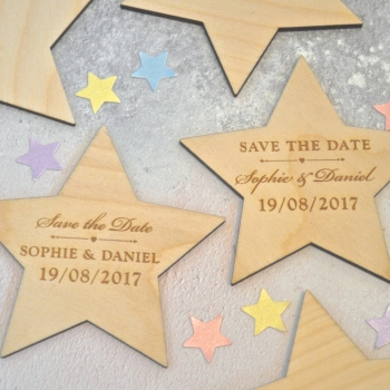 Save The Date Wedding Star Magnet