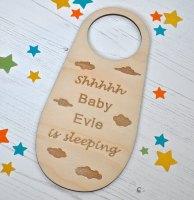 Personalised Baby Door Hanger