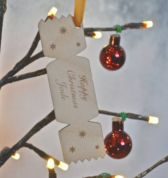 Personalised Chrismas Cracker Decoration