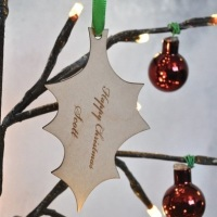 Personalised Holly Christmas Decoration