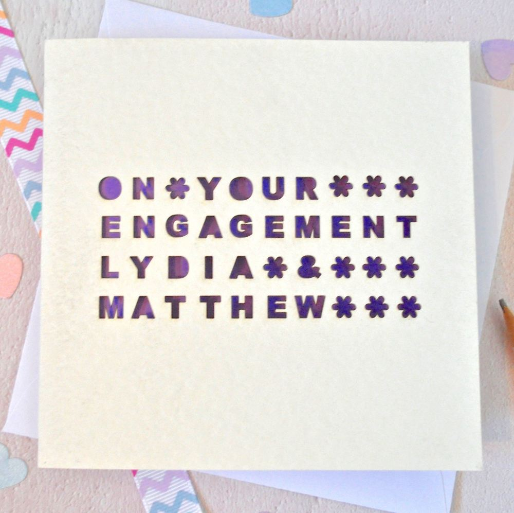 Personalised Laser Cut On Your Engagement Card