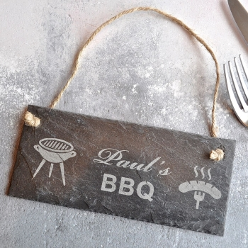 Personalised BBQ Slate Sign Gift