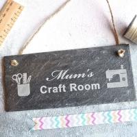 Personalised Craft Room Slate Sign