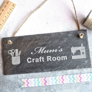 Personalised Craft Room Slate Sign