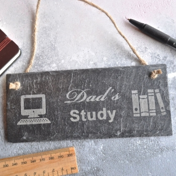 Personalised Study Office Slate Sign