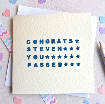 Personalised Laser Cut You Passed Card