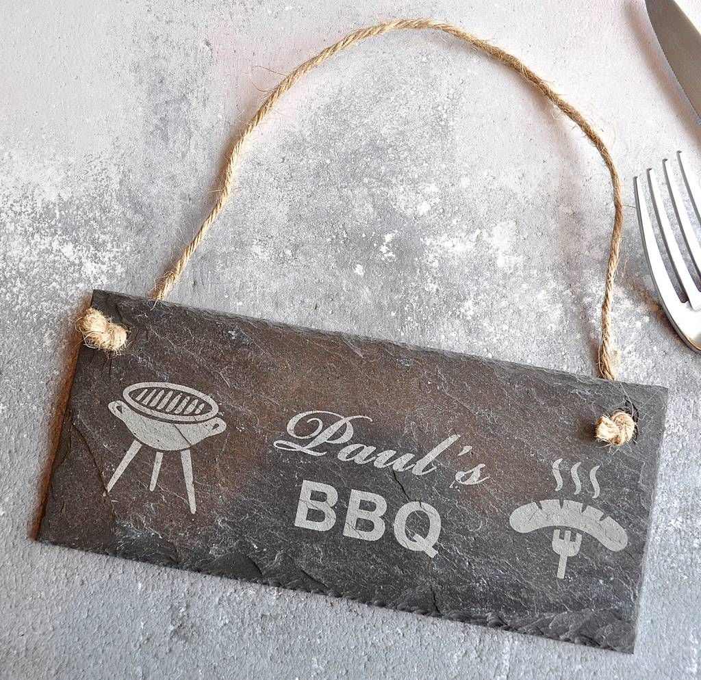 Personalised BBQ Slate Sign
